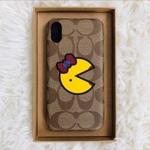 NWT COACH IPhone XR Case With MS. PAC-MAN